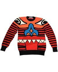 Givenchy Pull.Gilets.Sweats en Laine Multicolore - Rouge