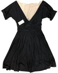 Bottega Veneta - Black Cotton Dress - Lyst
