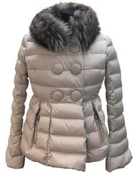 c3f5b05ef Moncler Aredhel Fox Fur Trim Down Parka in Natural - Lyst