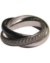 Cartier - Trinity Other White Gold Ring - Lyst