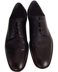 Dior - Black Leather Lace Ups - Lyst