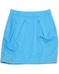 Matthew Williamson Blue Cotton Skirt