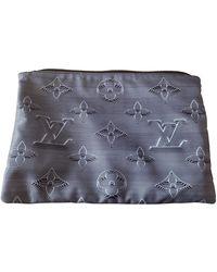Louis Vuitton Apollo Pochette Leinen Taschen - Grau