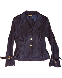 Roberto Cavalli - Blue Cotton Jacket - Lyst