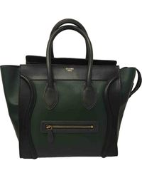 Céline Sac à main Luggage en Cuir Vert - Multicolore