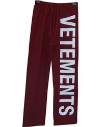 Vetements - Red Cotton - Lyst