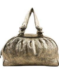 Chanel - Pre-owned Leather Bowling Bag - Lyst