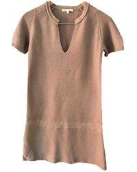 Maje Robe en Coton Beige - Neutre