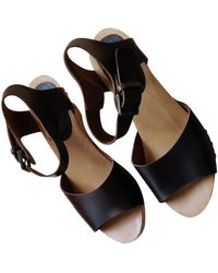 Zadig & Voltaire Leather Mules & Clogs - Brown