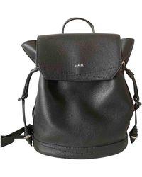 Lancel Huit Leather Backpack - Black