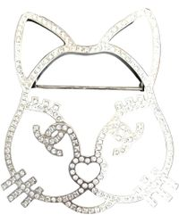 Chanel - Silver Steel Pins & Brooches - Lyst