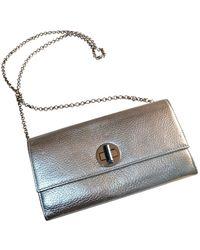 Tiffany & Co. Leather Clutch Bag - Metallic