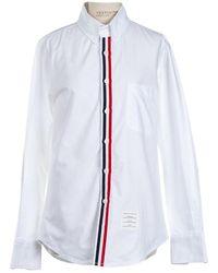 Thom Browne White Cotton Top