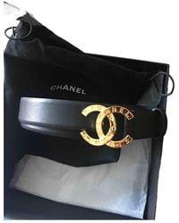 Chanel Leder Gürtel - Schwarz