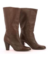 Balmain Leather Boots - Brown