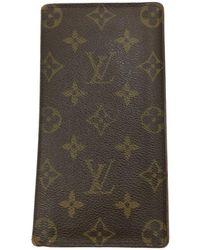 Louis Vuitton Brazza Leinen Kleinlederwaren - Braun