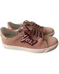 Anya Hindmarch Pink Suede Sneakers - Multicolor