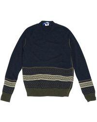 Junya Watanabe \n Navy Wool Knitwear & Sweatshirt - Blue