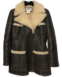 Chanel Shearling Coat - Black