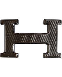 Hermès Boucle seule / Belt buckle Gürtel - Mettallic
