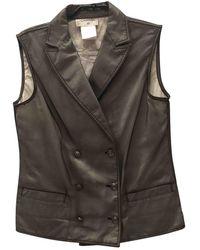 Chanel Vest en Coton Noir