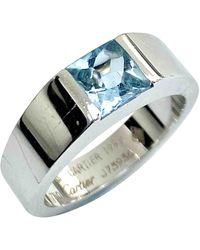 Cartier Tank White Gold Ring - Metallic