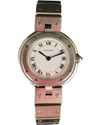 Cartier - Pre-owned Santos Ronde Watch - Lyst