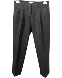 Michael Kors Wool Chino Trousers - Grey