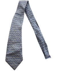 Hermès Silk Tie - Blue