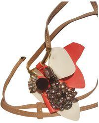 Marni Leder Halsketten - Mehrfarbig