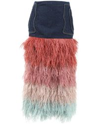 Johanna Ortiz - Pink Denim - Jeans Skirt - Lyst