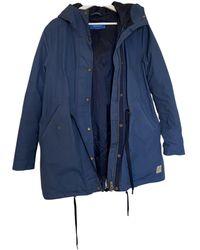 adidas Blue Cotton Coat