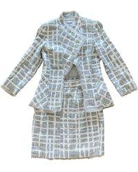 Chanel Traje Tweed - Gris