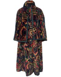 Missoni Faux Fur Coat - Multicolour