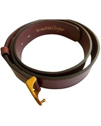 Cartier Patent Leather Belt - Brown