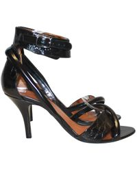 Givenchy - Black Leather Sandals - Lyst