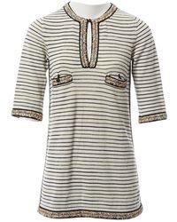 Chanel Leinen Mini Kleid - Weiß