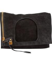 Tom Ford Alix Black Suede Handbag