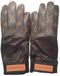 66f6d2cdbf09 ... glove MP1809 monogram black leather men. Louis Vuitton - Leather Gloves  - Lyst