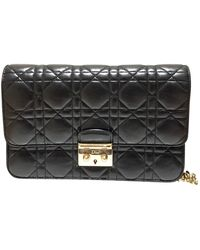 Dior Miss Black Leather Clutch Bag