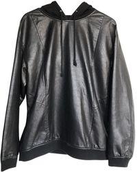 BLK DNM Leather Sweatshirt - Black