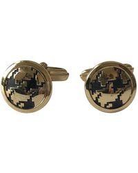 Dior Gold Metal Cufflinks - Metallic