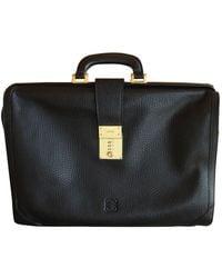 Loewe Leather Satchel - Black