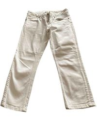 Burberry Slim Trousers - White