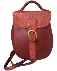 Delvaux - Le Brillant Red Ostrich - Lyst