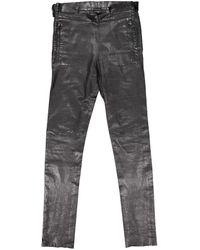 Givenchy Pantalons en Cuir Noir