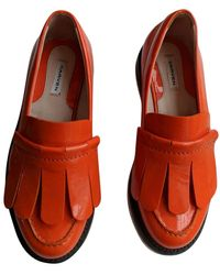 Carven Patent Leather Flats - Orange