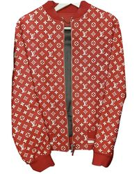 Louis Vuitton Leather Jacket - Red