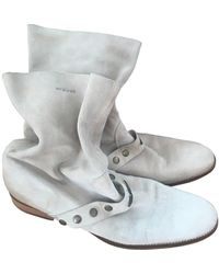 Zadig & Voltaire Beige Leather Ankle Boots - Natural