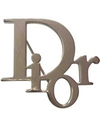 Dior Broches Oblique en Métal Argenté - Multicolore